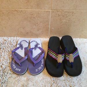 BUNDLE!  2 Pair Flip Flop Sandals - Sz 8.5